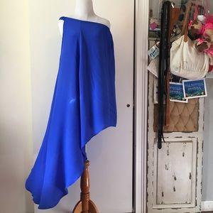 Olivaceous off the shoulders blue blouse size:M